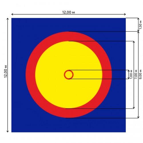 Борцовский ковер PROFFI - трехцветный