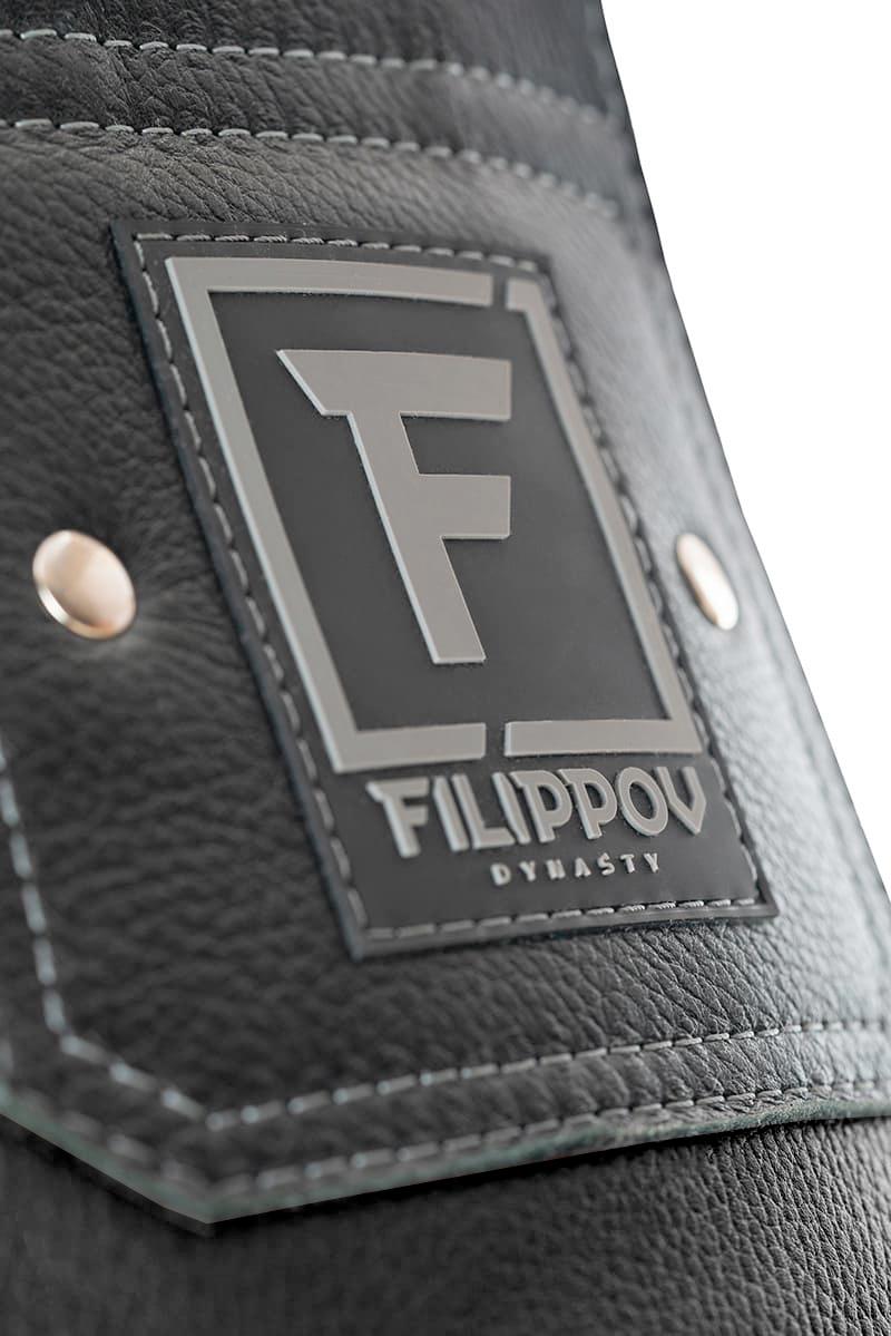 Водоналивные боксерские мешки прямые Filippov из натуральной кожи